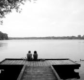 Rheinland, Niederrhein, Nettetal, Naturpark Schwalm-Nette, Krickenbecker Seen, See, Hinsbecker Bruch, Ufer, Urlauber, Touristen, Steg